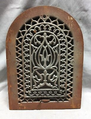 One Antique Cast Iron Arch Top Heat Grate Wall Register 8X12 Dome Vtg 24-19C 5