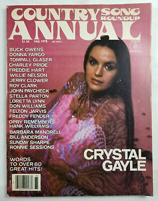 Country Song Roundup Annual Vtg Magazine Fall 1978 Crystal Gayle No Label VG 2