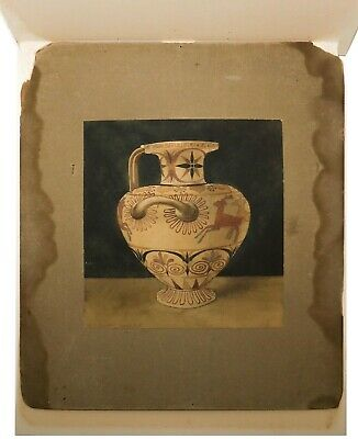 A. H. Smith Sgnd Late 19Th C 1898 Antique W/C Grecian Urn Laid Down On Millboard 4