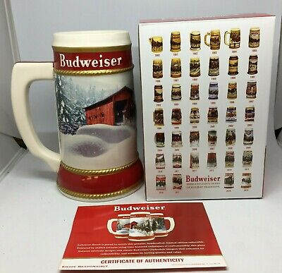 2019 Budweiser Holiday stein beer mug frm annual Christmas series WINTER PASSAGE 3