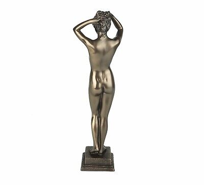 "Nude Female Standing Bronze Figurine Miniature Statue Sculpture #504 9.25""H New 4"