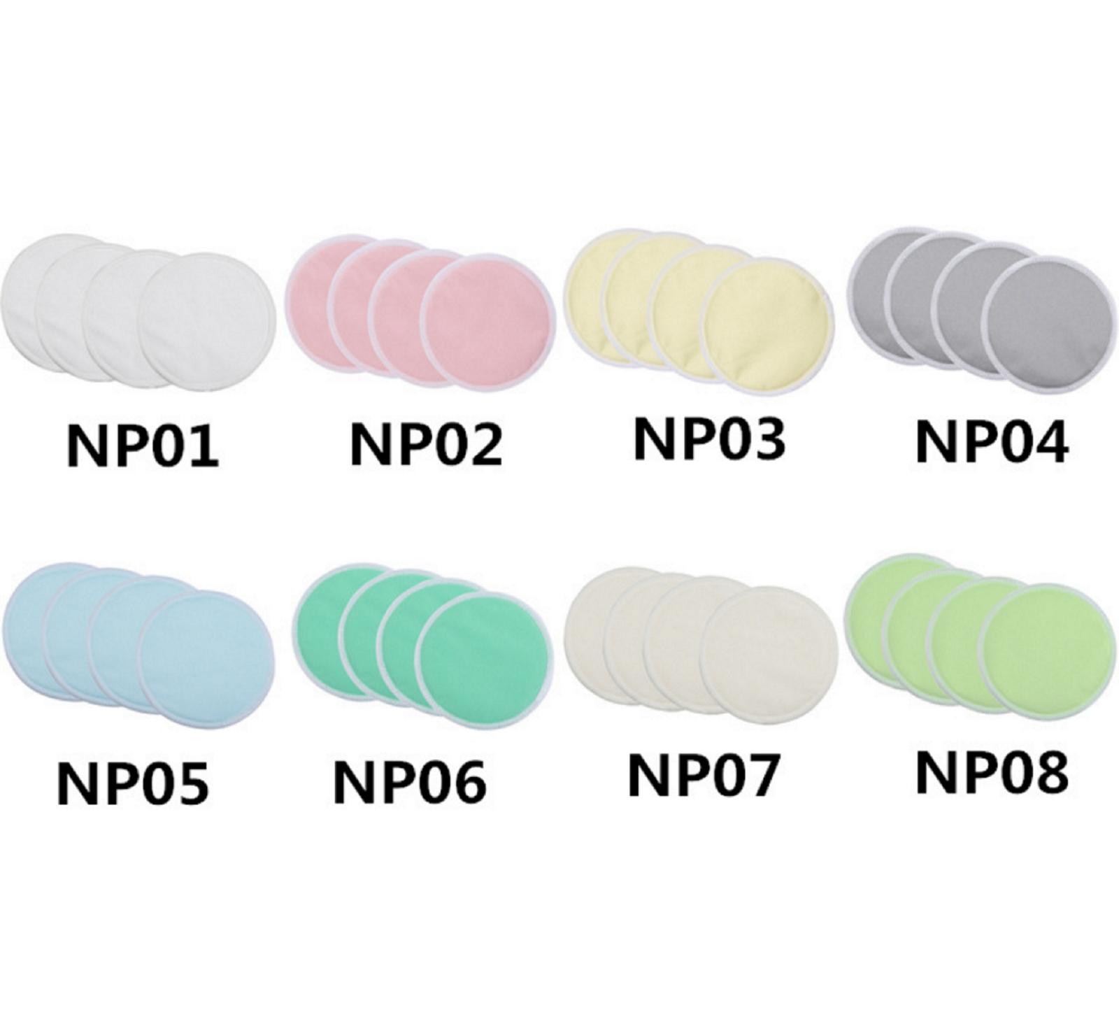 8Pcs Bamboo Reusable Breast Nursing Breastfeeding Washable Soft Organic Pads 10