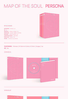 BTS [MAP OF THE SOUL:PERSONA] Album RANDOM CD+POSTER+2F.Buch+2Karte+Film SEALED 2