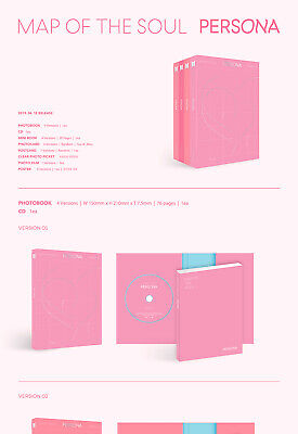 BTS MAP OF THE SOUL:PERSONA Album CD+POSTER+2ea P.Book+2p Card+Film+GIFT SEALED 2