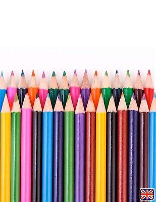 🌈 20 Non Toxic COLOUR PENCIL COLOURED PENCILS PACK CHILDREN SCHOOL ART CRAFT🌈 3