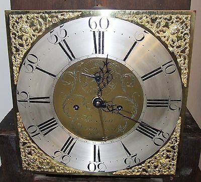 ~ Antique Brass Dial Burr / Pollard Oak Longcase Grandfather Clock MOSS FRODSHAM 5