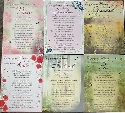 GRAVE MEMORIAL CARDS - Plastic Weatherproof - Various Relations & Christmas 2