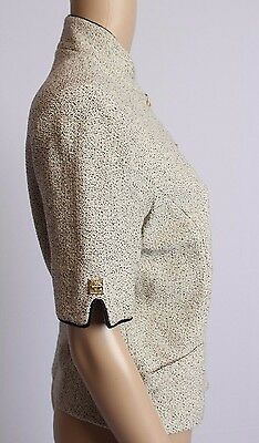 St. John Collection Marie Gray Santana Knit Speckled Dress Blazer Jacket 6