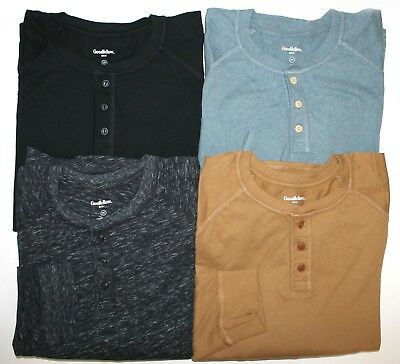 e6ef2a475 GOODFELLOW & CO. Men's Cotton Standard 3-Button Henley Shirt Big & Tall  Variety