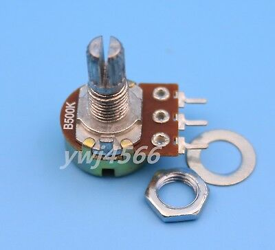 10Pcs B1K 1K Ohm Linear Taper MINI Potentiometer Pot 15mm Christmas
