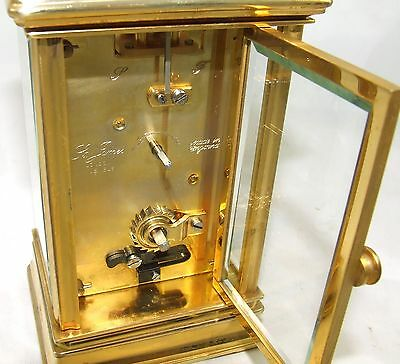 ENGLISH St James LONDON Brass Carriage Mantel Clock 11 Jewels : Working (59) 9