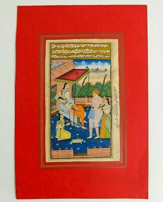 18Th-19Th C Antique Mughal (India) Miniature Illuminated Manuscript Opaque W/C 4