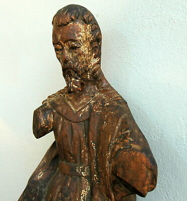 God the Father Carved Wood Antique Santo 17C Spanish Colonial 3