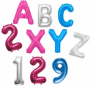 """32/"""" Giant LETTER NUMBER Foil Helium BALLOONS A-Z 1-9 Alphabet Any Name Message"""