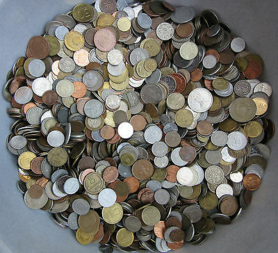 Huge Lot Of Mixed Unsearched Coins 1.0 Kg (2.2 Lbs) Free Shipping With Tracking 2