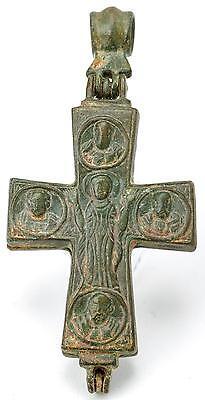 Byzantine Bronze Reliquary Cross Pendant Lot 561 2