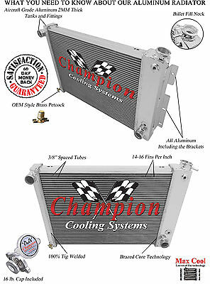 1970-1985 Jeep CJ 4 Row Core Champion WR Radiator A//C Heavy Duty Cooling