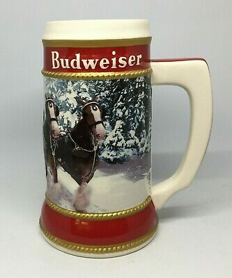 2019 Budweiser Holiday stein beer mug frm annual Christmas series WINTER PASSAGE 5