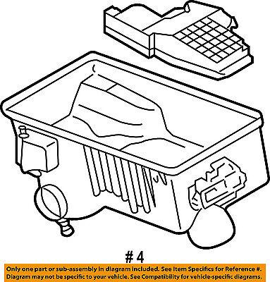 mazda oem 03 06 6 air cleaner intake box bottom housing case body Mazda 2001 626 Air Cleaner Intake Hose mazda oem 03 06 6 air cleaner intake box bottom housing case body l32713z02c