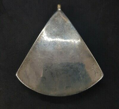 Huge Afghani Silver Plated Pendent With Natural Black Agate Beautiful Stone #W2 5