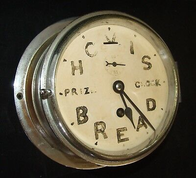 Ship Style Chrome HOVIS BREAD PRIZE CLOCK Advertising Clock BRAVINGTONS LONDON 4