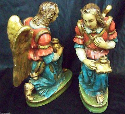 Older Angel Candlestick Set Look Like Artwork Sculpture Statue Set Vietri Italy 2