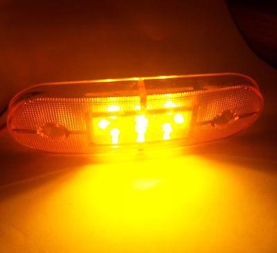 Set 8 Luci Ingombro 24V Luci 9 LED Posteriore Arancio Ingombro & Staffe 3