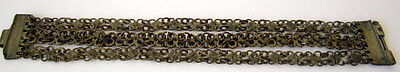 ANTIQUE 1800 s. SILVER KNITTED THREE ROWS LADY BRACELET  #  75A 11