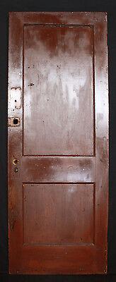 "9 avail 30""W Antique Vintage Interior Solid Wood Wooden Door Flat Recessed Panel 2"