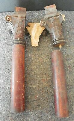 Pair Of Antique Columns With Corinthian Caps (As Is) (2195) 3