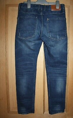 Boys H & M Blue Jeans  Age 11-12 Tapered Leg 2