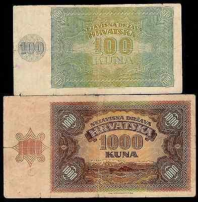 CROATIA VERY FINE 1000 KUNA