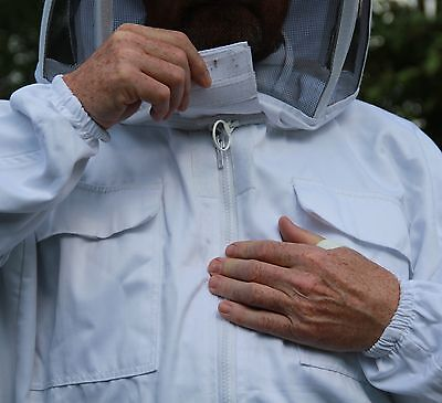 White Beekeepers Bee Suit with Fencing Veil - All Sizes 8