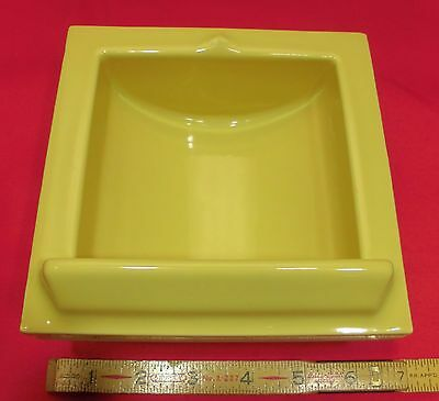 Vintage...Yellow Ceramic...Recessed Vertical Niche…by Fairfacts... Critria 1917 11