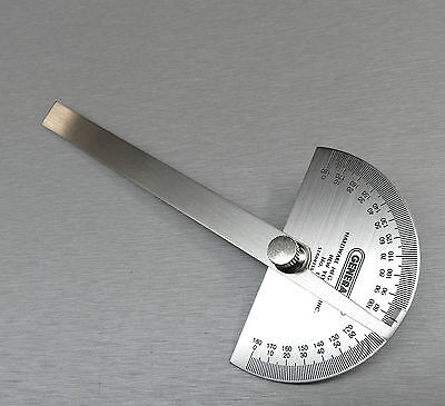 """Protractor General Tool No.18 Round Head Stainless Steel 6"""" 0-180 Degree 22024 4"""