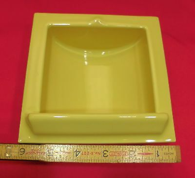 Vintage...Yellow Ceramic...Recessed Vertical Niche…by Fairfacts... Critria 1917 2