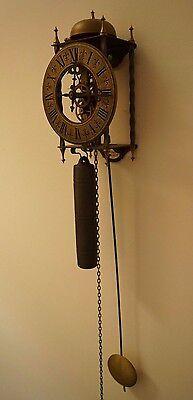 Tempus Fugit 8 Day Clock West Germany Weight-Driven Pendulum Brass Plates 6/3620 2