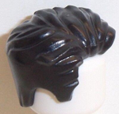 Lego Hair Swept Left Tousled x 1 Black for Minifigure