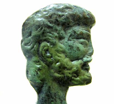 Ancient Greek Bronze Museum Statue Replica of Asclepius God Of Medicine Healing