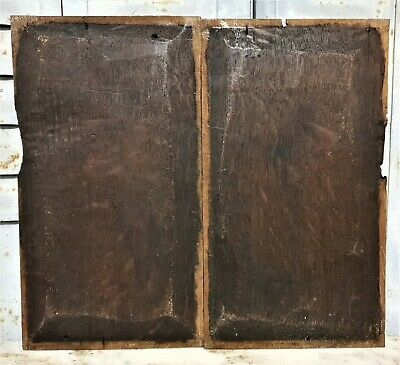 16 th Pair renaissance portrait panel Antique french oak architectural salvage 10