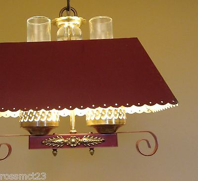 Vintage Lighting 1940s red hanging light   More Available 2
