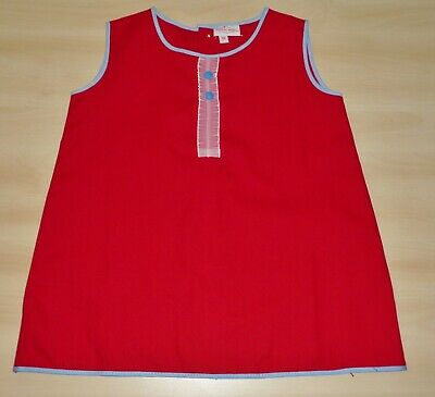 2 PACK OF VINTAGE 1970's UNWORN GIRLS RED & YELLOW A-LINE DRESSES AGE 2 YEARS 4