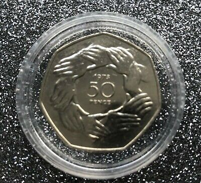 1973 and 2020  Join EU/ Brexit 50P coins mounted on BREXIT RESULT background 2
