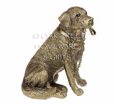 Labrador Statue Bronze Dog Ornament Dog Memorial Figurine New and Boxed 2