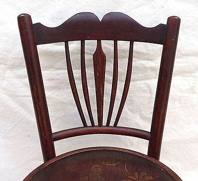 Art Nouveau Child Chair Fichel Bentwood Print Seating Factory Label 5