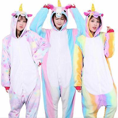 Adult/Child Unicorn Unisex Kigurumi Animal Cosplay Costume 1Onesie Pyjama UK 2