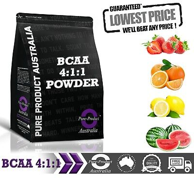 500G PURE BCAA 4:1:1 INSTANTISED AMINO ACID POWDER (chose your flavour)
