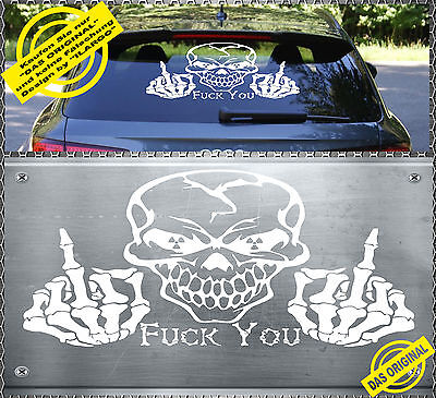 Skull Fuck You US Army Aufkleber Sticker Totenkopf Heckscheiben 59x35cm SFYG-1