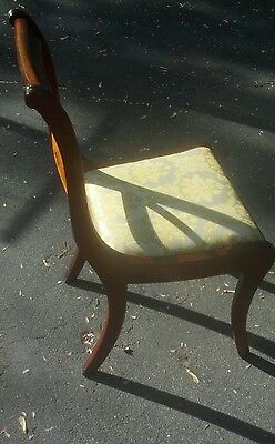 Rare- Hickory Chair Mfg. Co. Solid Mahagony cross back chair. 4