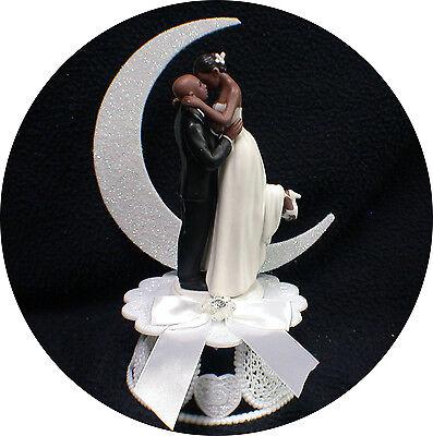 Bald African American Groom Wedding Cake Topper Pick Caucasian Or Black Bride